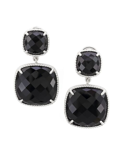 Effy | Black Onyx And Sterling Silver Drop Earrings | Lyst