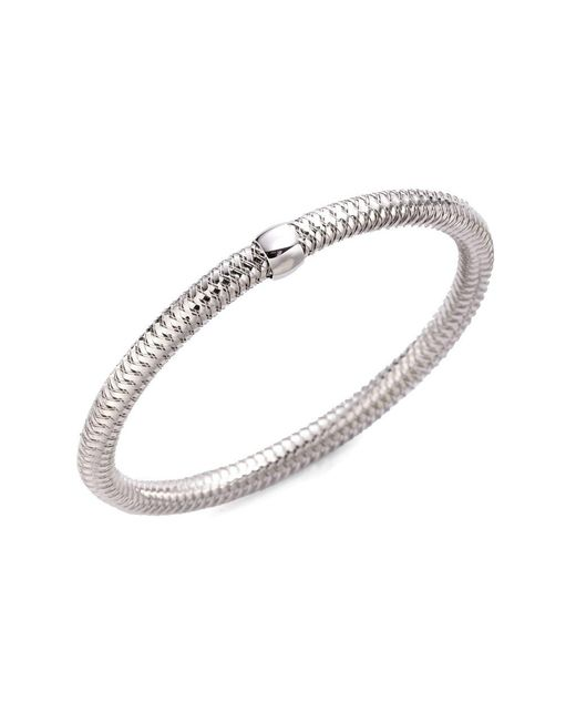 Roberto Coin | Metallic Primavera 18k White Gold Bracelet | Lyst