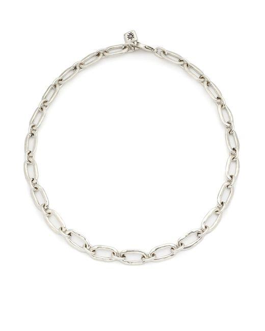 Uno De 50 Metallic Chain Link Necklace
