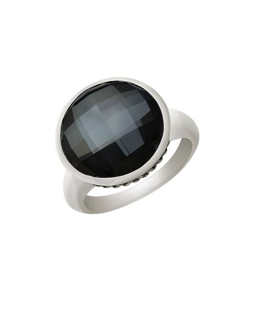 Lord & Taylor | Metallic Sterling Silver Quartz Doublet Ring | Lyst