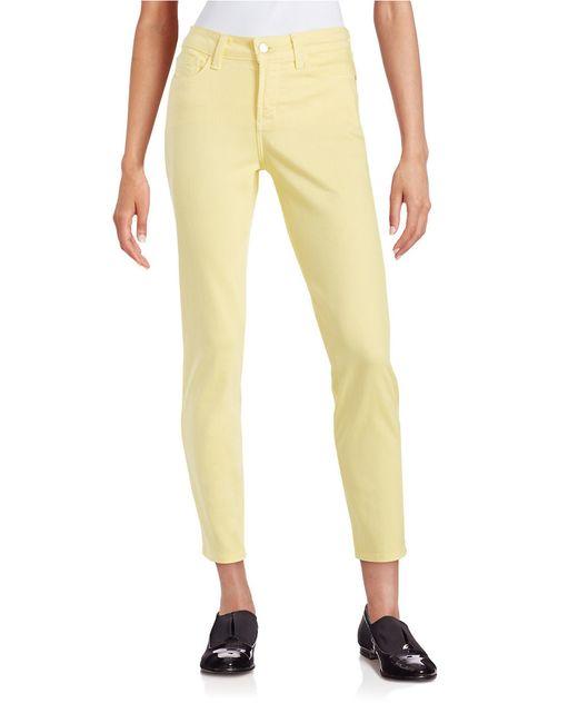 NYDJ Yellow Clarissa Ankle Jeans