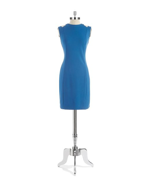 Kenneth Cole | Blue Cut-out Sheath Dress | Lyst
