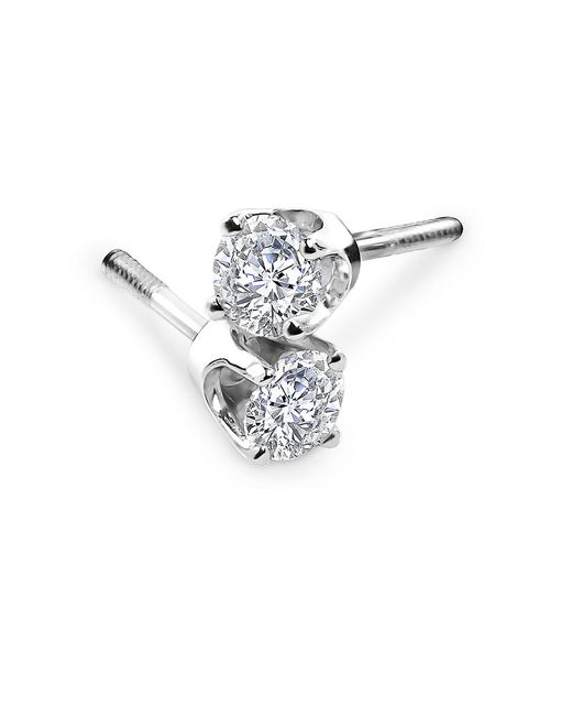 Lord & Taylor | Red Diamond And 14k White Gold Stud Earrings, 2 Tcw | Lyst