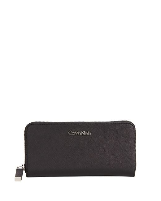Calvin Klein | Black Saffiano Leather Wallet | Lyst