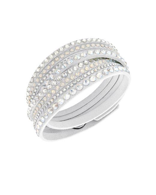 Swarovski | Slake Crystal White Wrap Bracelet | Lyst