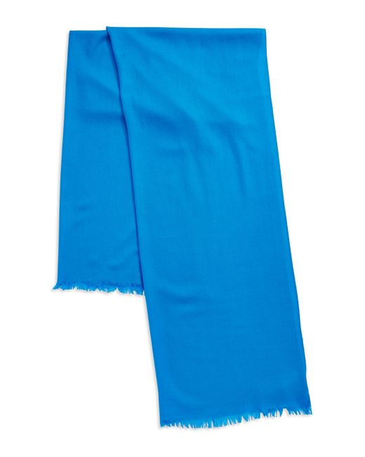 Lord & Taylor | Blue Oversize Wool And Cashmere Wrap Scarf | Lyst