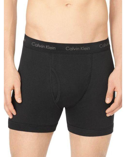 Calvin Klein | Black Cotton Boxer Briefs for Men | Lyst