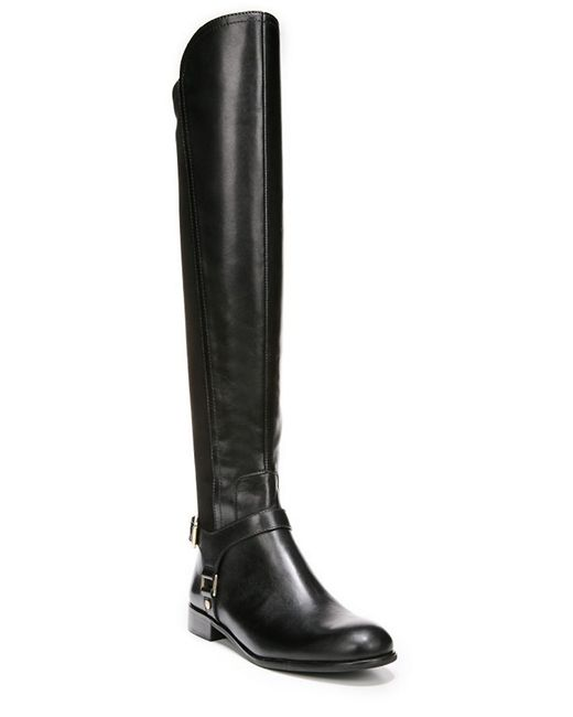 Franco Sarto | Black Mast Leather And Suede Boots | Lyst