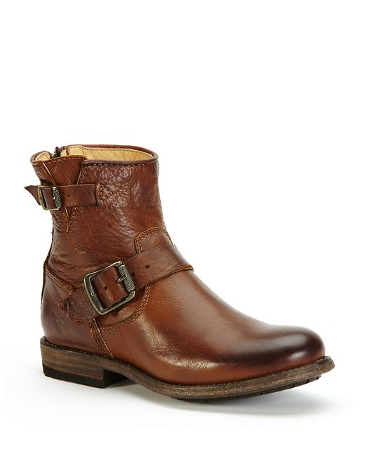 Frye | Brown Tyler Engineer Short Leather Boots | Lyst