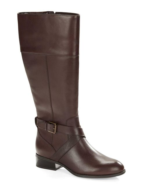 Lauren by Ralph Lauren | Brown Maryann Leather Boots | Lyst