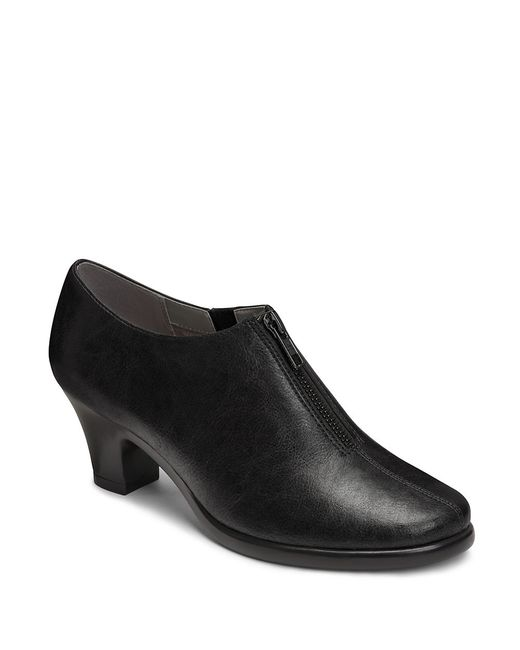 Aerosoles | Black Email Zip-up Ankle Boots | Lyst