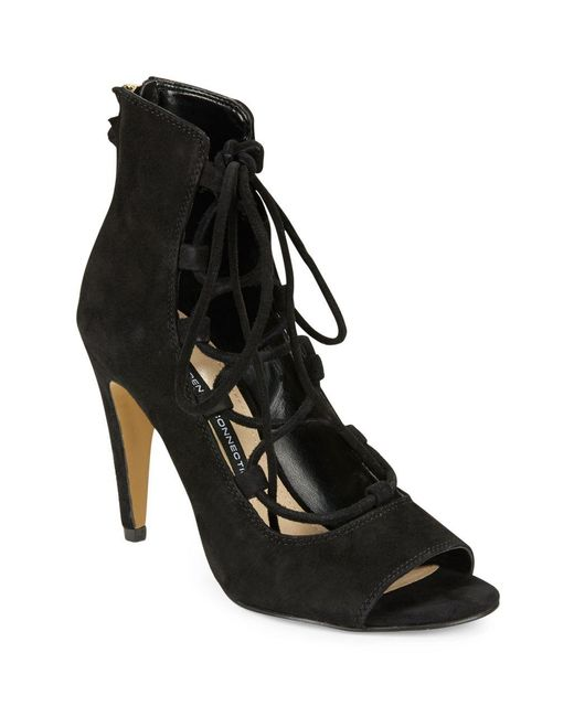 French Connection | Black Narina Caged Heels | Lyst