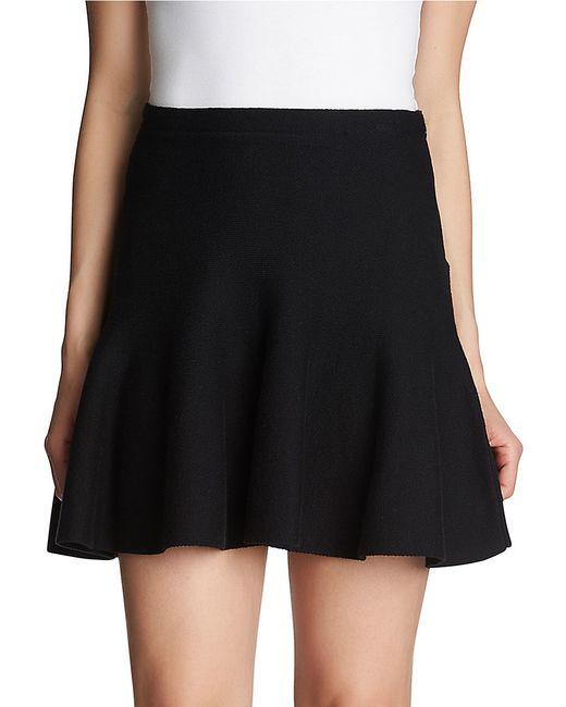 1.STATE | Black Flounce Cotton Mini Skirt | Lyst