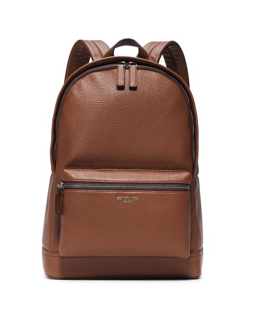 Michael Kors | Brown Bryant Pebble-textured Leather Backpack for Men | Lyst