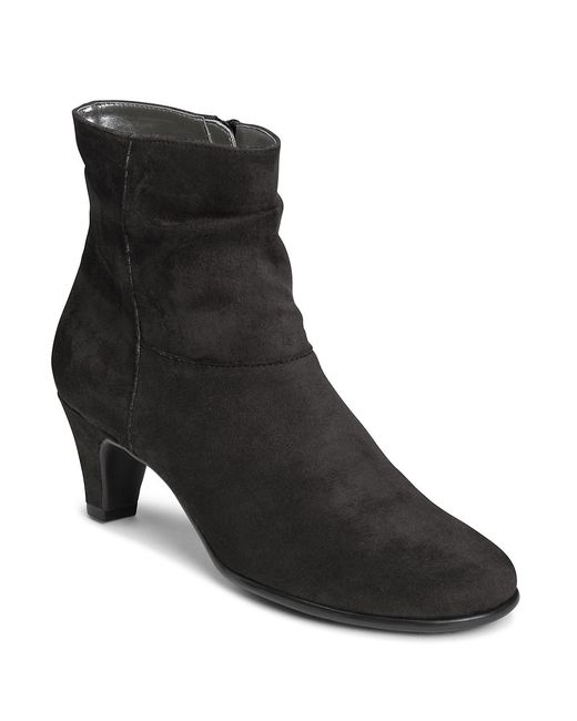 Aerosoles | Black Red Light Slouchy Ankle Boots | Lyst