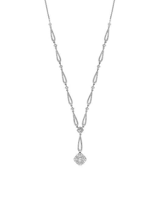 Effy Metallic Diamond And 14k White Gold Necklace, 1.47tcw