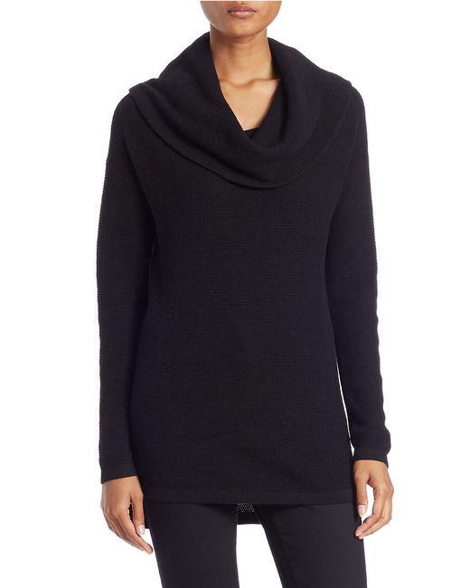 Lord & Taylor   Black Petite Drop-shoulder Cowl-neck Sweater   Lyst