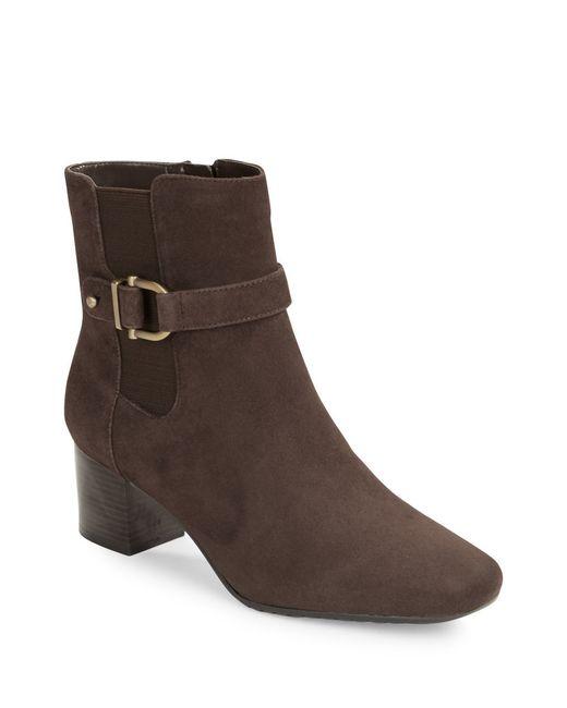Bandolino | Brown Lorillard Suede Ankle Boots | Lyst