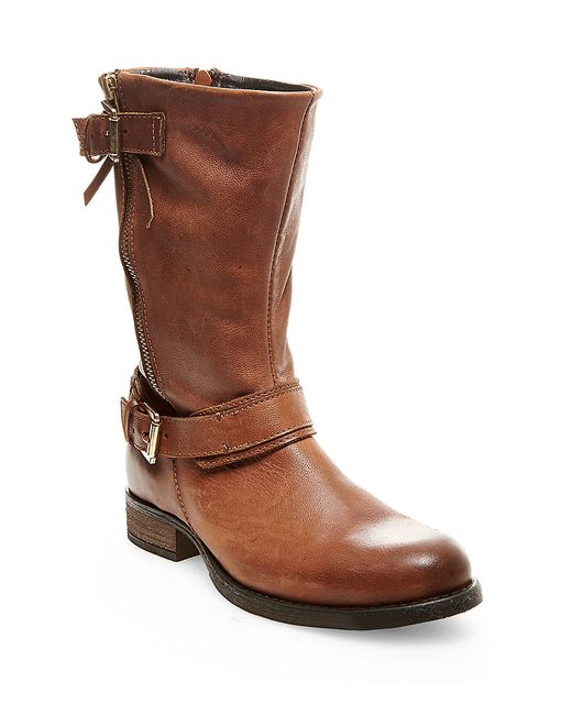 Steve Madden | Brown Kavilier Leather Boots | Lyst