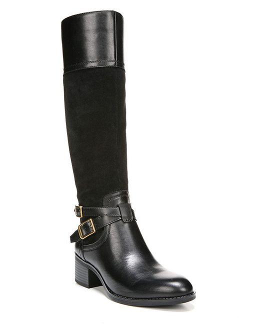 Franco Sarto | Black Lapis Wide Calf Women Round Toe Suede Knee High Boot | Lyst