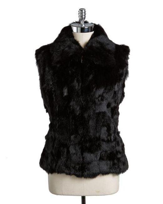 Surell | Black Rabbit Fur Vest | Lyst