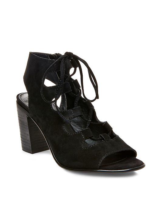 Steve Madden | Black Nilunda Suede Lace-up Sandals | Lyst