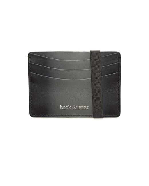 Hook + Albert | Gray Gradient Leather Card Case for Men | Lyst