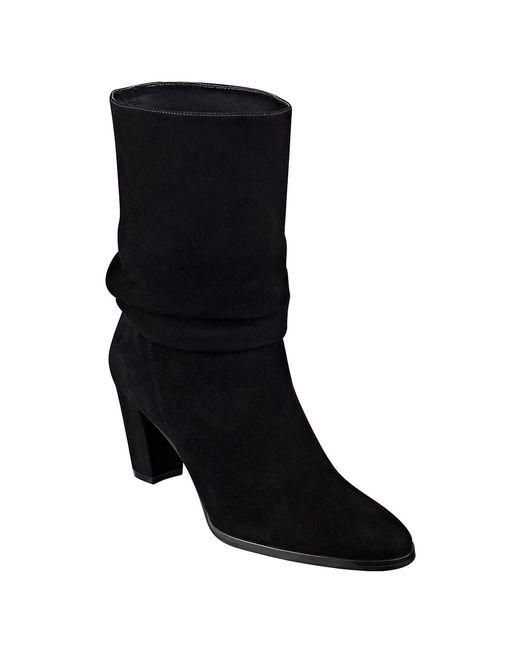 Ivanka Trump | Black Jalli Suede Scrunch Ankle Boots | Lyst