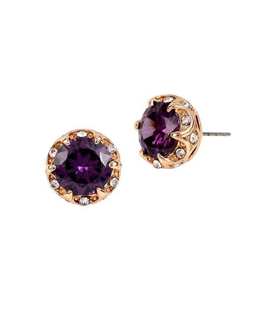 Betsey Johnson | Purple Fall Follies Stud Earrings | Lyst