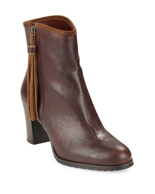 Lauren by Ralph Lauren | Brown Carah Leather Ankle Boots | Lyst