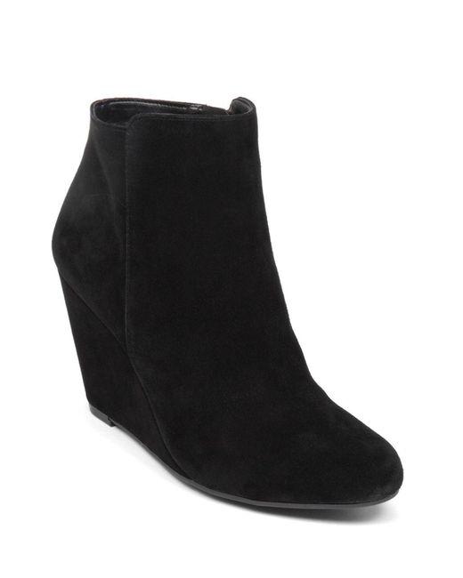 Jessica Simpson | Black Remixx Suede Ankle Boots | Lyst