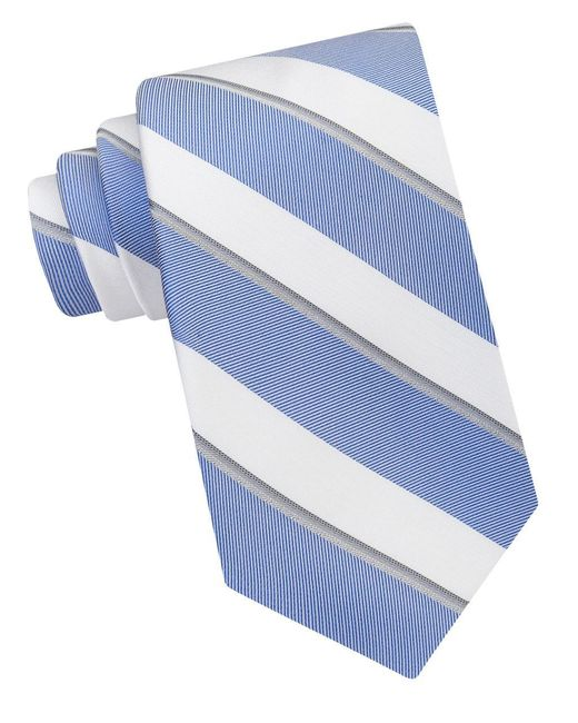 Calvin Klein | Blue Cabana Stripe Tie for Men | Lyst