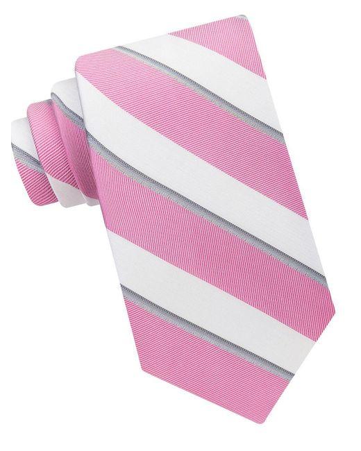 Calvin Klein | Pink Cabana Stripe Tie for Men | Lyst