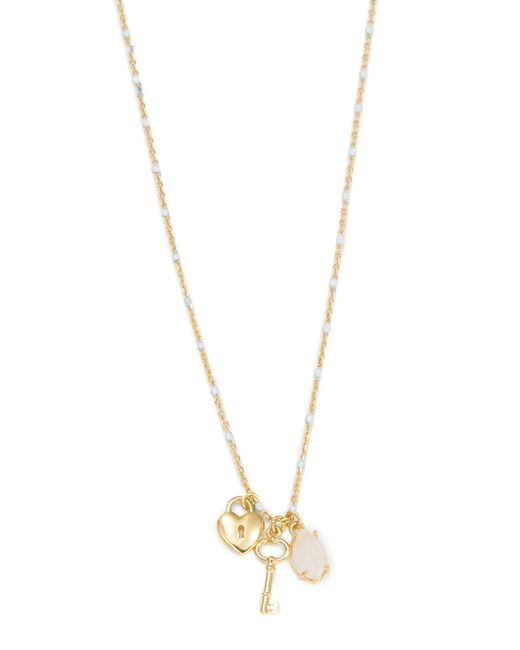 Tai | White Lock And Key Stone Pendant Necklace | Lyst