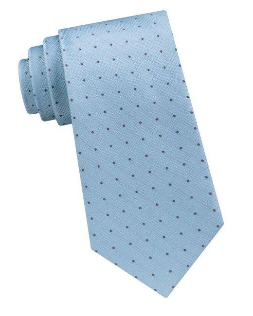 Calvin Klein | Blue Dotted Silk Tie for Men | Lyst