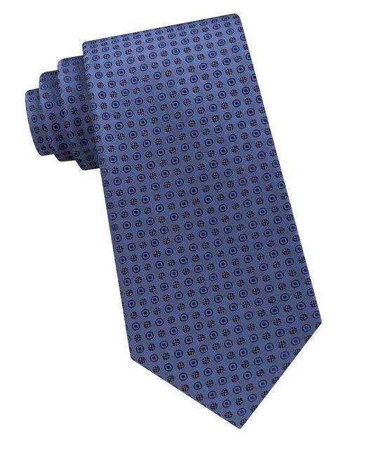 Calvin Klein | Blue Embroidered Silk Tie for Men | Lyst
