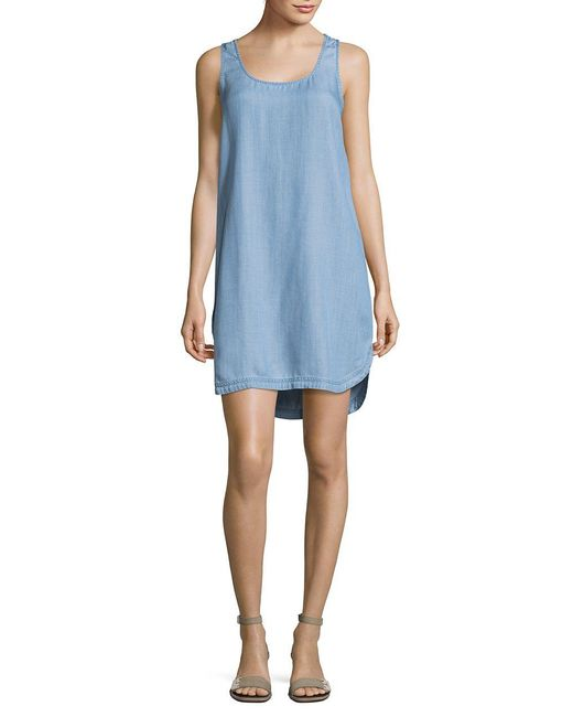Two By Vince Camuto | Blue Curved Hem Tank Dress | Lyst