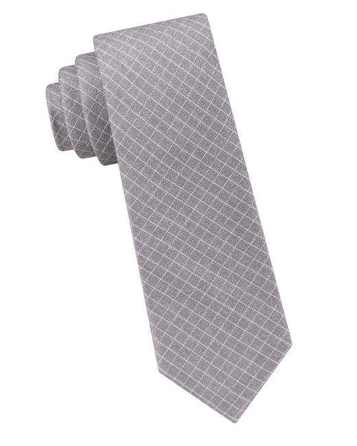 Calvin Klein | Metallic Cord Grid Slate Tie for Men | Lyst