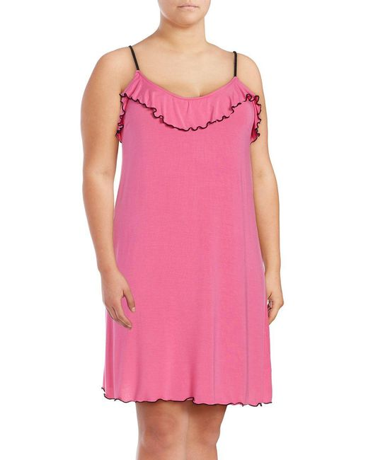 Lord & Taylor | Pink Spaghetti Strap Chemise | Lyst