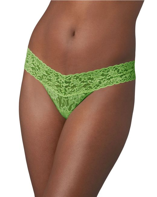 Hanky Panky | Green Low Rise Lace Thong | Lyst