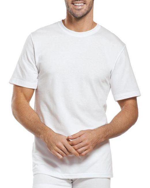 012f1b78aea3e Jockey - White Big Man Two-pack Classic Cotton Crewneck Tees for Men - Lyst  ...