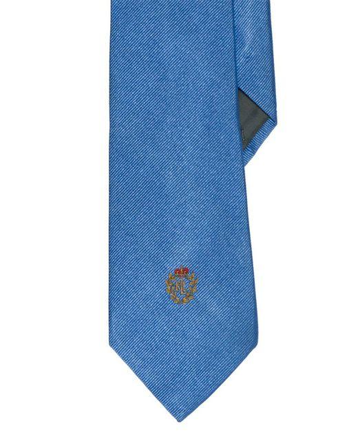 Lauren by Ralph Lauren - Blue Signature Crest Silk Tie for Men - Lyst