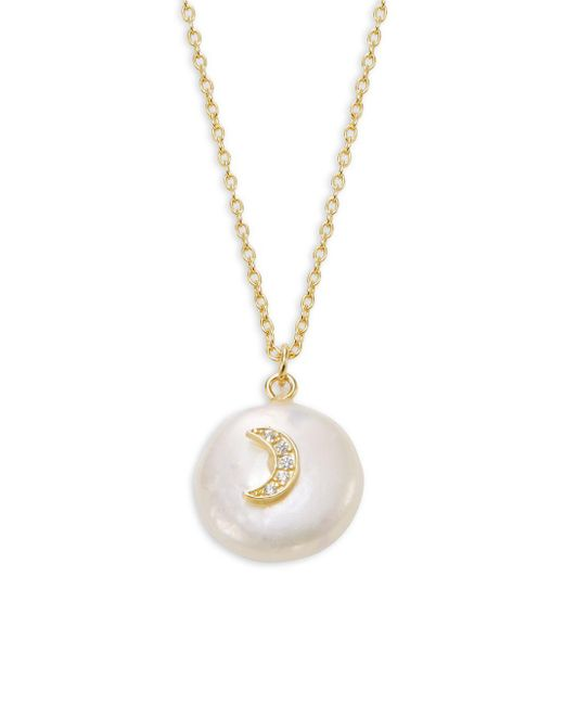 Lord & Taylor Metallic Moin Coin Necklace