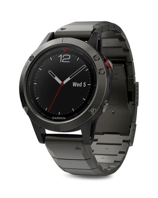 Garmin - Black Fenix Stainless Steel Smart Watch for Men - Lyst