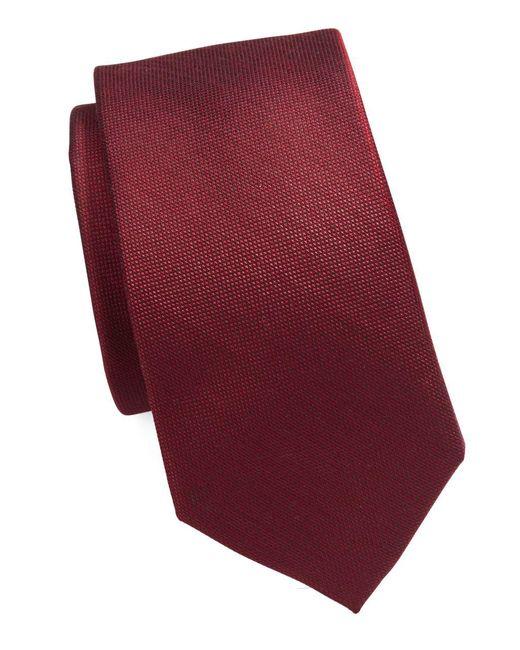 Michael Kors - Red Silk Blend Tie for Men - Lyst