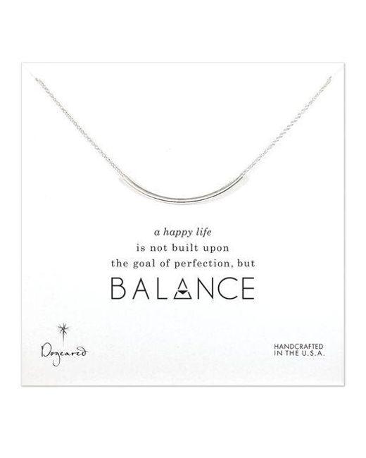 Dogeared - Metallic Balance Tube Pendant Necklace - Lyst