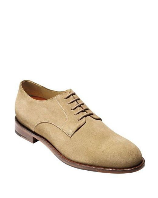 Cole Haan - Natural Carter Grand Suede Plain Toe Oxfords for Men - Lyst