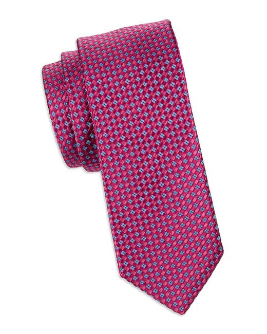 Ted Baker - Pink Textured Silk Tie for Men - Lyst