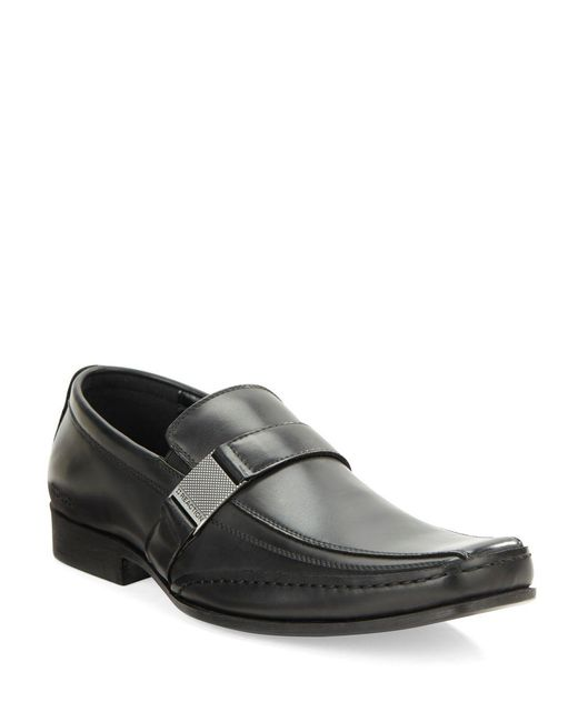 Kenneth Cole Reaction - Black Money Down Bicycle Toe Loafers for Men - Lyst