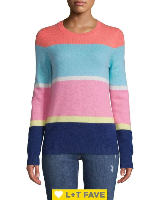Lord & Taylor Multicolor Colorblock Cashmere Sweater
